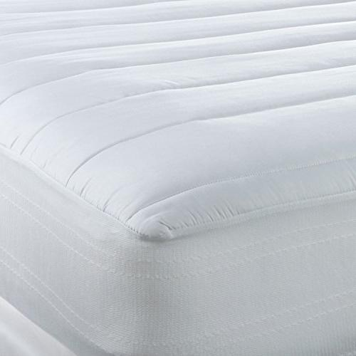 Sealy Luxury Temperature Mattress Pad Hypoallergenic Cooling Tencel Polyester Blend