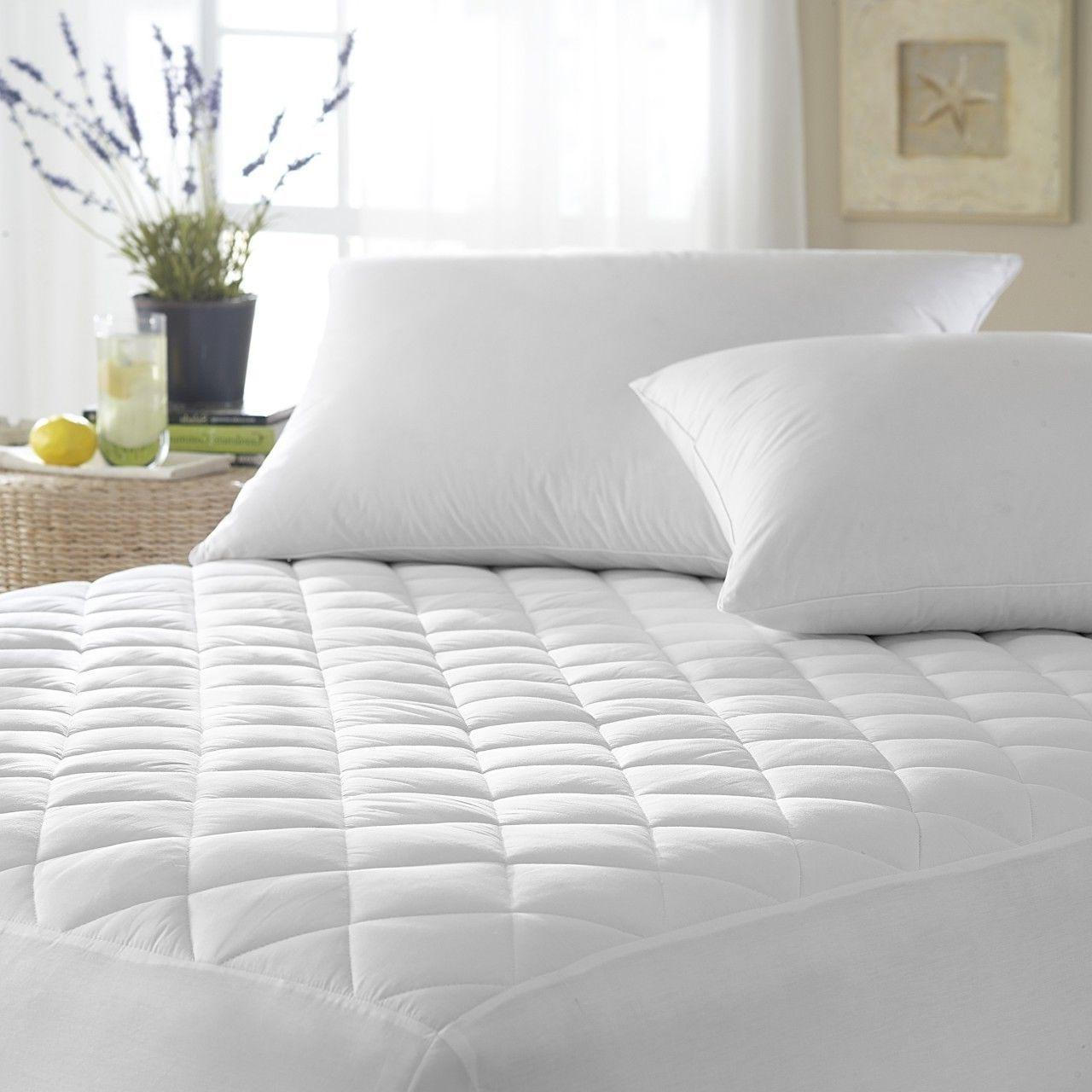 """Mattress Cover Quilted Fitted Pad Stretches Up To 16"""" Deep 1"""