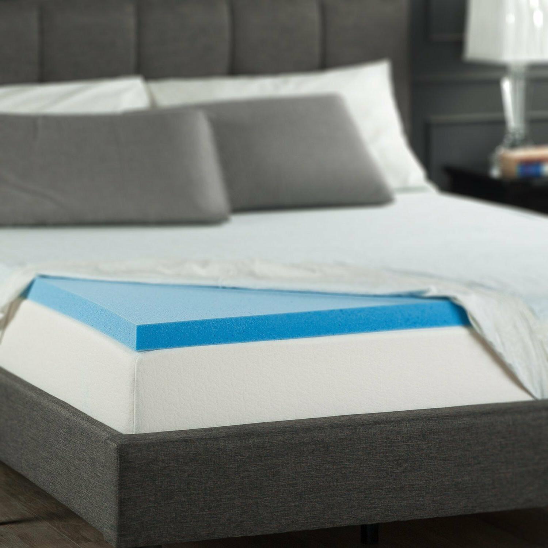 Mattress Memory Foam Topper Cooling Pad All inch
