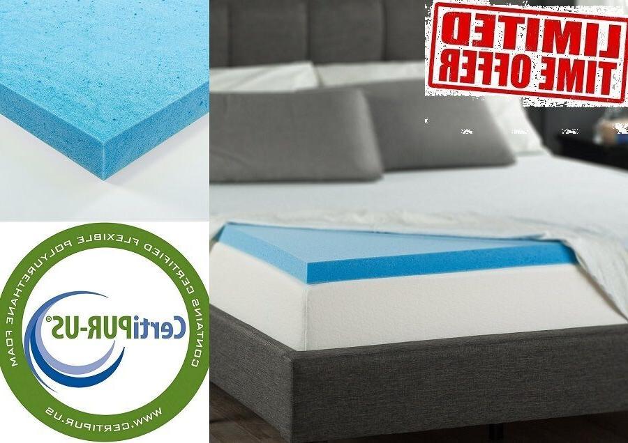 mattress gel memory foam topper cooling comfortable
