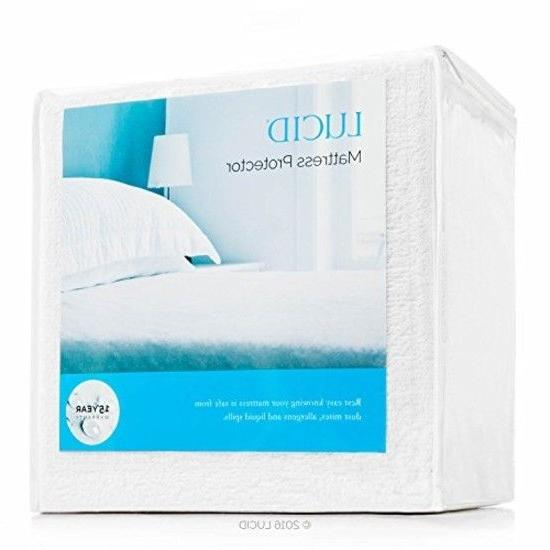 Mattress Pad 100% Cotton Topper Bedding Waterproof Protector