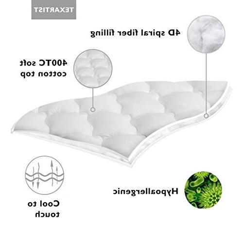 TEXARTIST Full, Mattress 400 Pillow Pocket