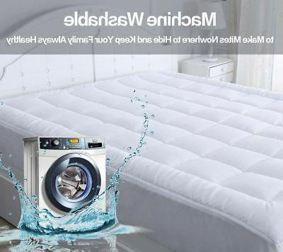 Mattress Pad Cover King Size Pillow Thick Luxury Bed Bedding