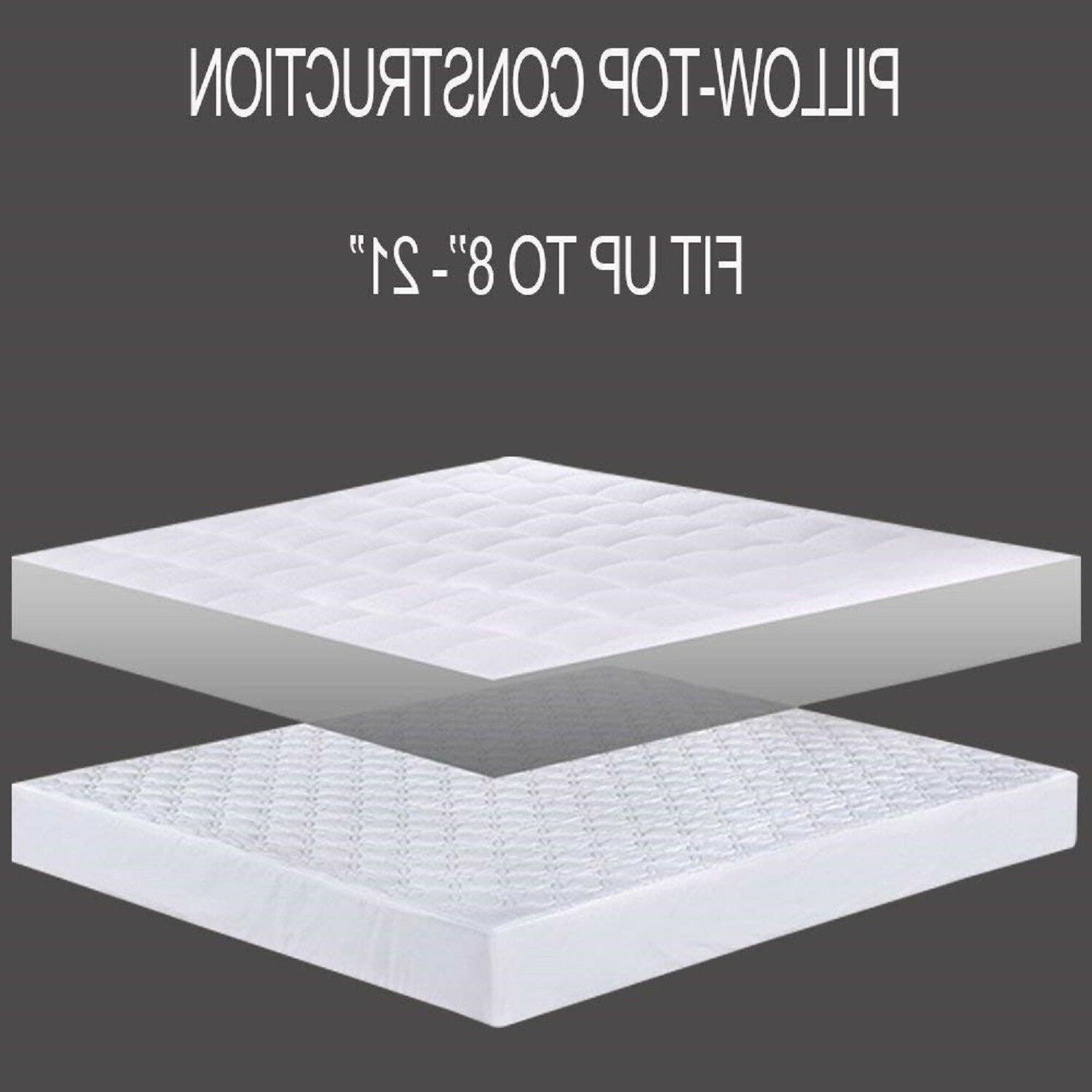 MATTRESS PAD COVER Full Queen Size Deep Topper