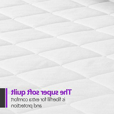 Mattress Cover Topper Quilted Bedding King Size Top