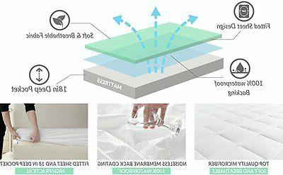 Mattress Pad Cover Topper Protector Bedding King Bed Top