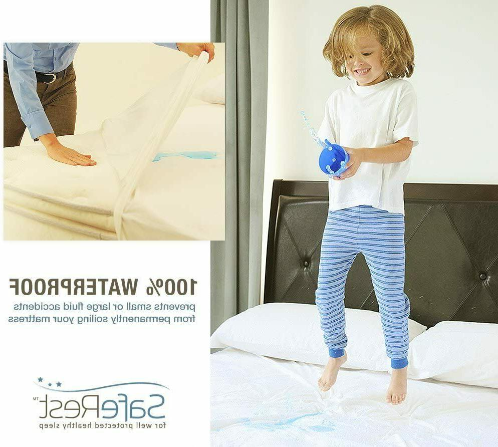 Saferest Topper Waterproof Cover Hypoallergenic Cotton