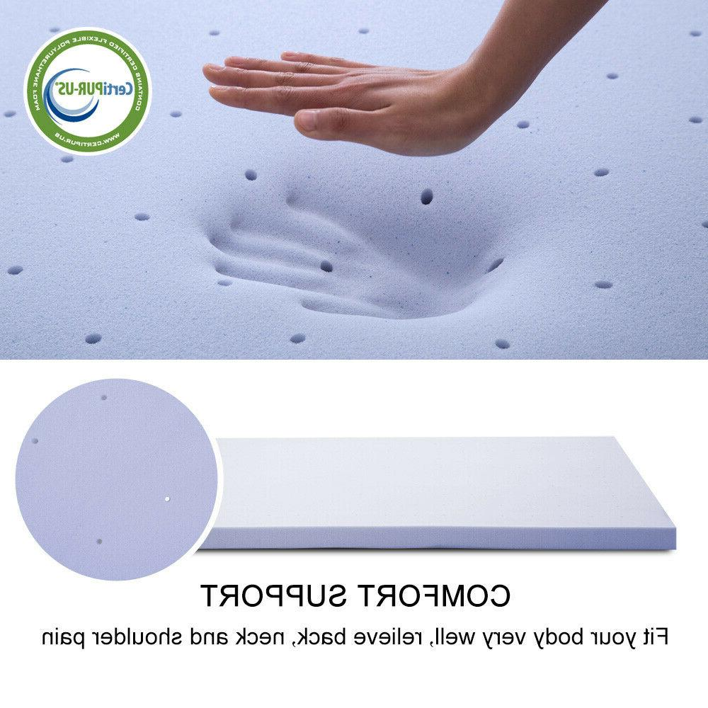 Mattress 4 Inch Foam Cooling Swirl Lavender