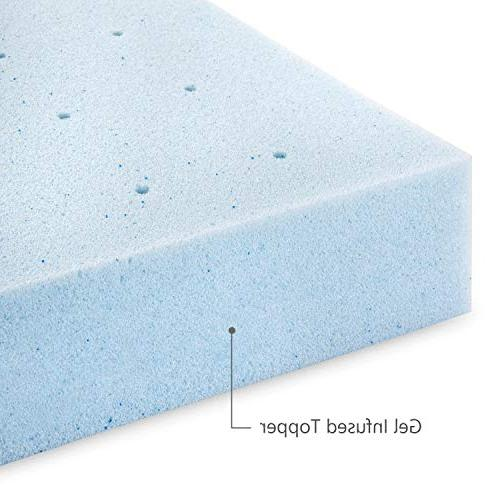 RUUF Mattress Gel-Infused Memory Foam Topper with