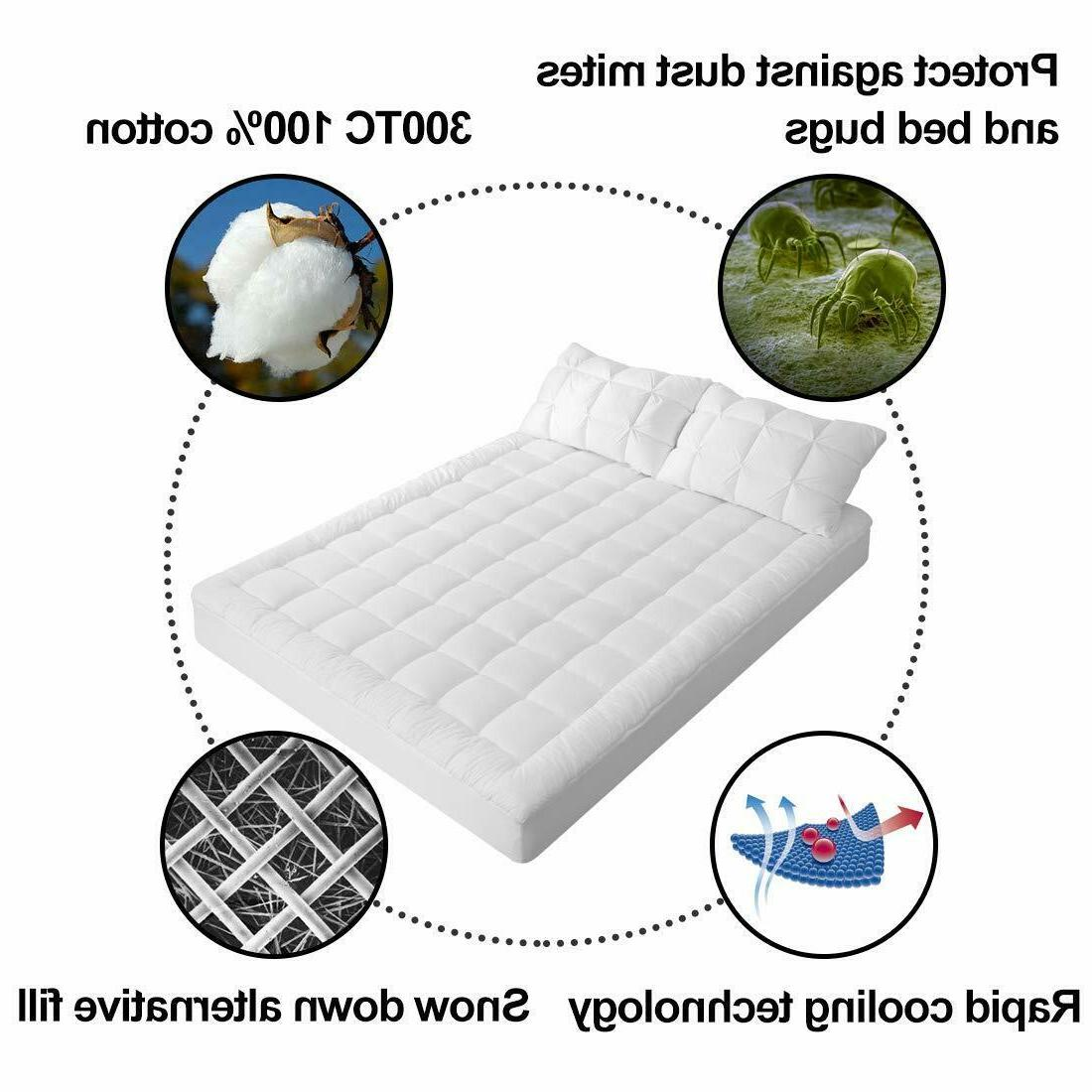 Pillow Cover Queen Pad Hypoallergenic Cooling