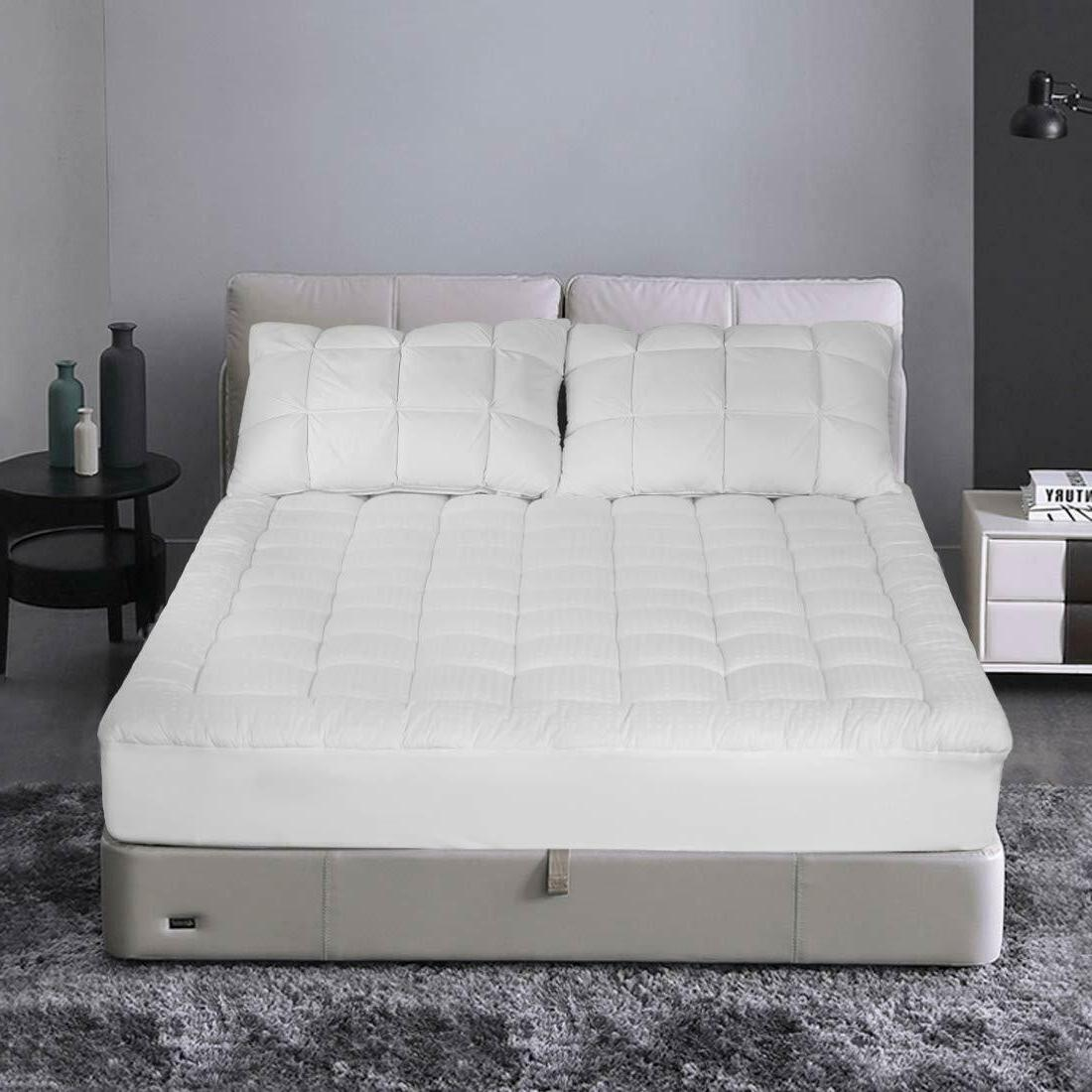 Pillow Top Mattress Queen Size Bed Pad Soft Cooling