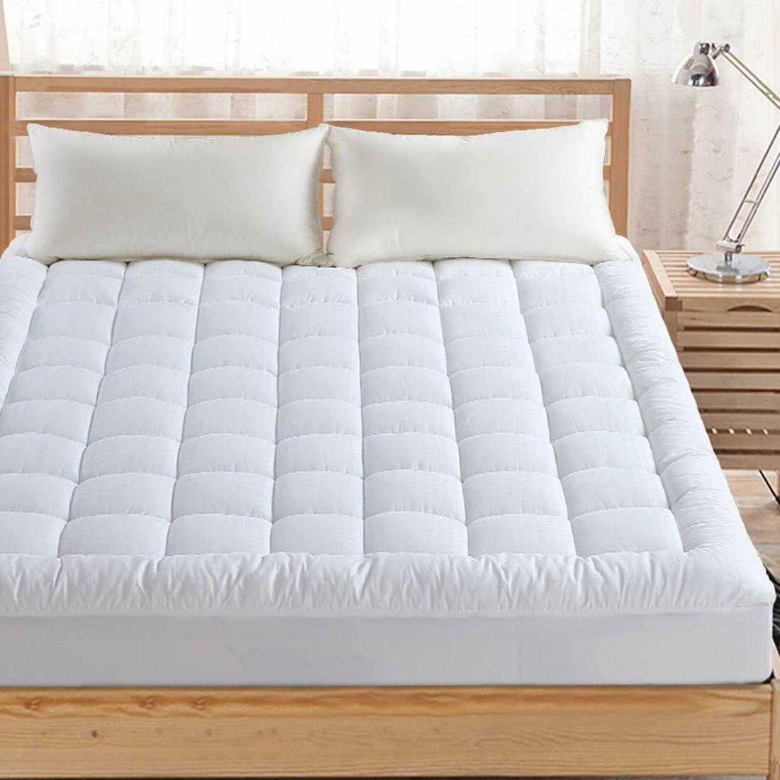 queen mattress topper pillow top cooling quilted
