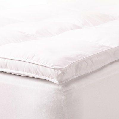 Mattress Topper Down Alternative Queen Size Bed Bedroom Whit