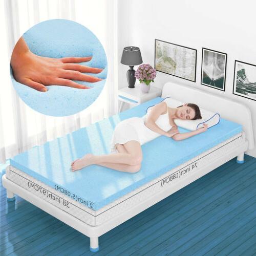 For Twin Gel-Infused Memory Foam Bedding Orthopedic 2''3'' M