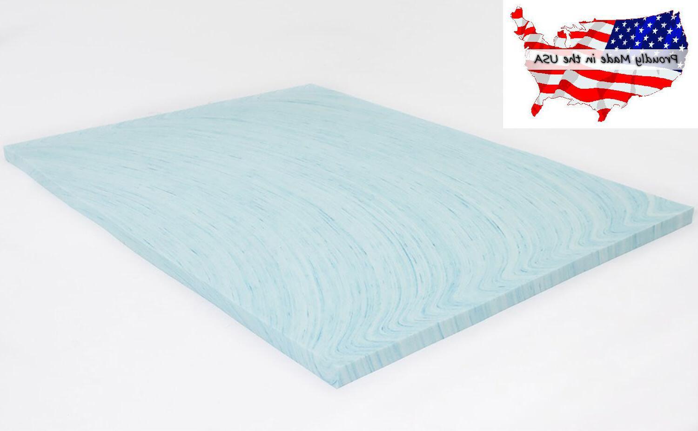 Mattress Topper Gel Memory Foam 2 Inch Swirl Soft Visco Elas