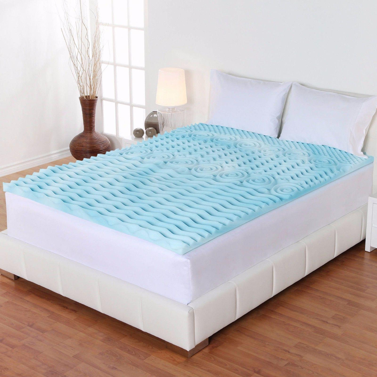 Mattress Topper Gel Memory Foam Bed King