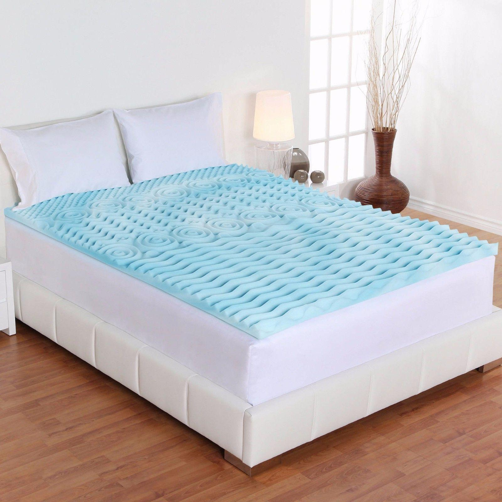 Mattress Gel Memory Foam Bed Cover Firm-Full King