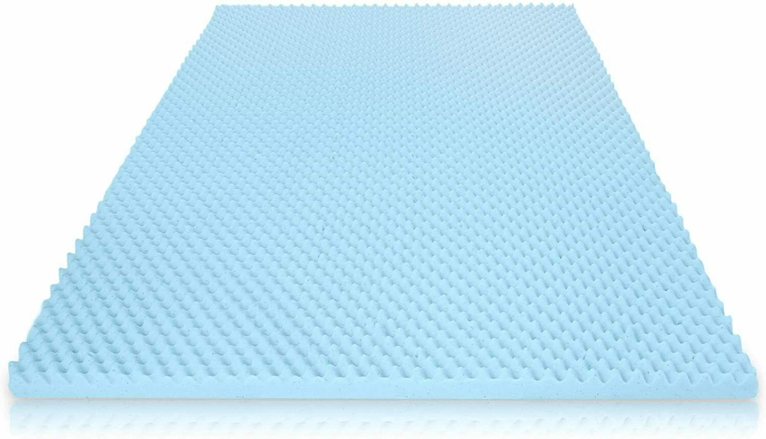 Mattress Topper Memory Foam Gel Infused Bed Pad Egg Crate Pr