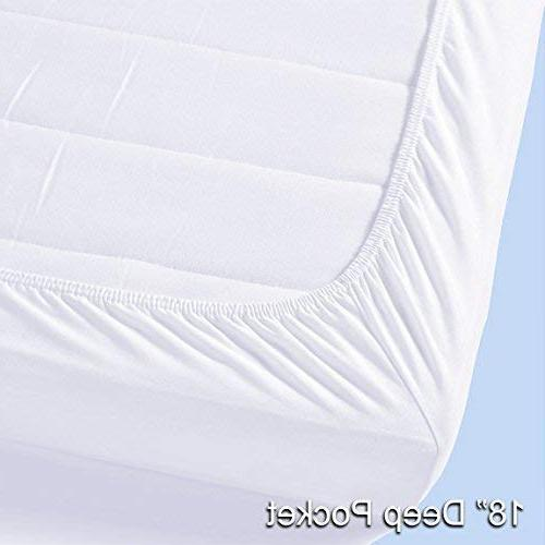 """Pure Brands & Pad Protector in Plush Luxury Pillow Top Make Your 18"""" Deep Queen"""