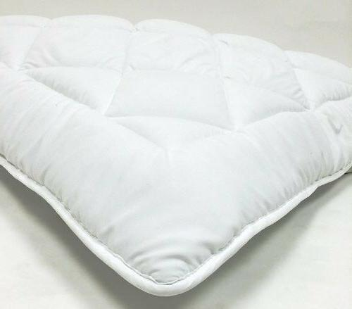 mattress topper pad with straps reversible down