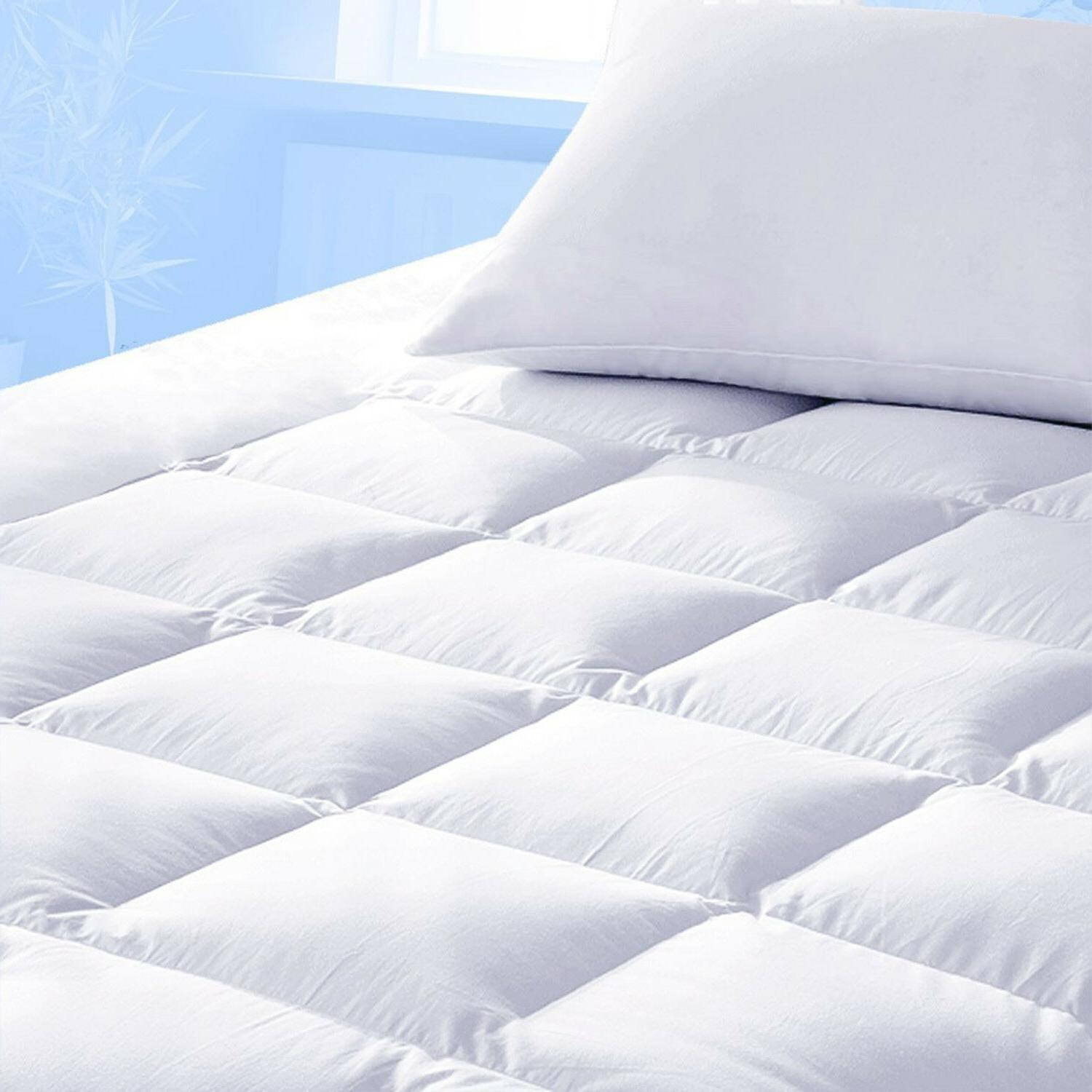 Mattress Topper Protector Bed Pad Cover Hypoallergenic Pillo