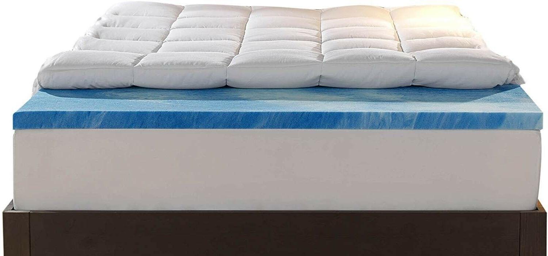 Mattress Queen Size Gel Memory Foam Dual Layer