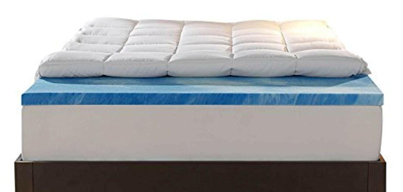 mattress topper queen size gel memory foam
