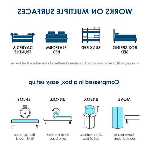 HIFORT 10 Memory Foam Mattress Full Medium Non 54x74 Mattress Fit Loft Double Compressed in -