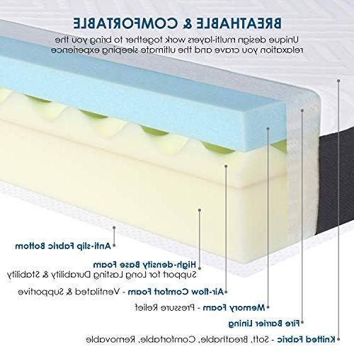 HIFORT 10 Inch Foam Full with Medium Plush Feel - Mattress Colchones Fit Bunk Compressed a -