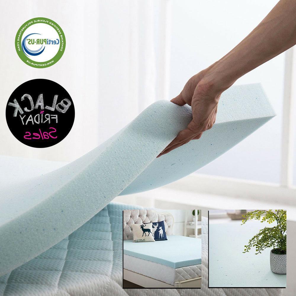 memory foam mattress gel topper twin full