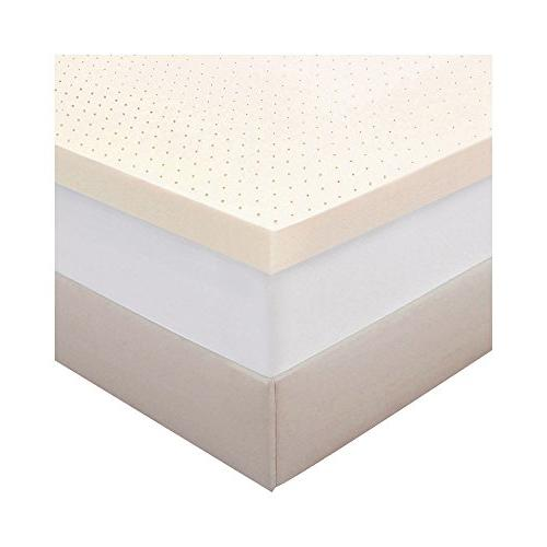 """Authentic Comfort 3"""" Memory Foam Mattress Topper with Biofre"""