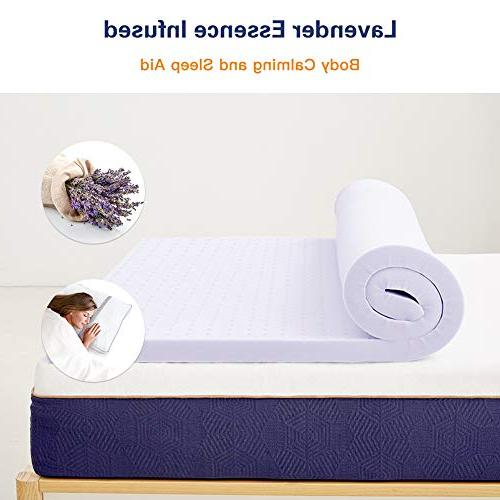 BedStory Foam Topper 3 Lavender with Microfiber Memory Bed with Ventilated Design