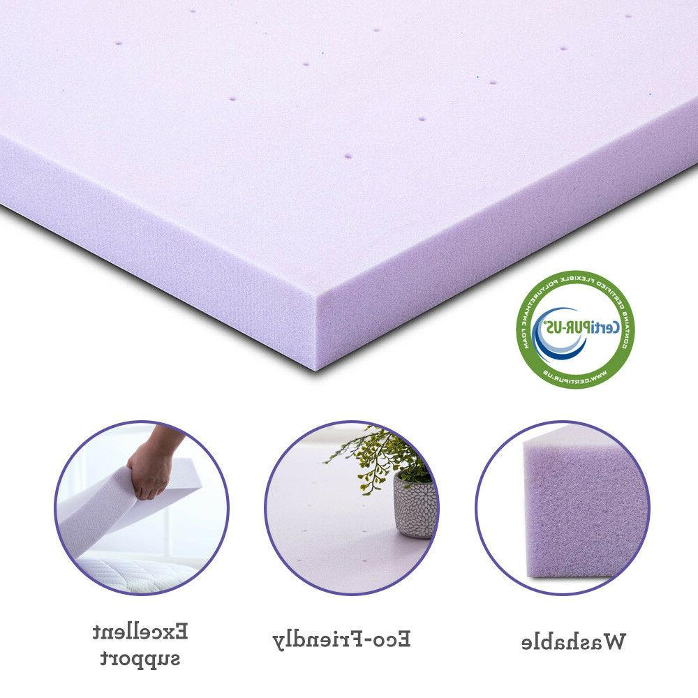 Memory Mattress Lavender Twin 3 Inch Topper