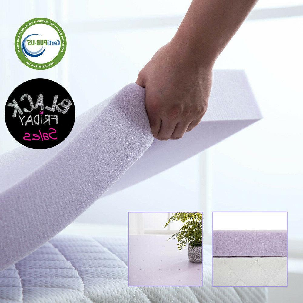 memory foam mattress topper lavender full queen