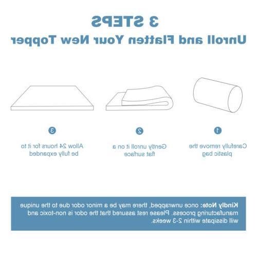 "2"" Gel-Infused Foam with Bamboo Twin"