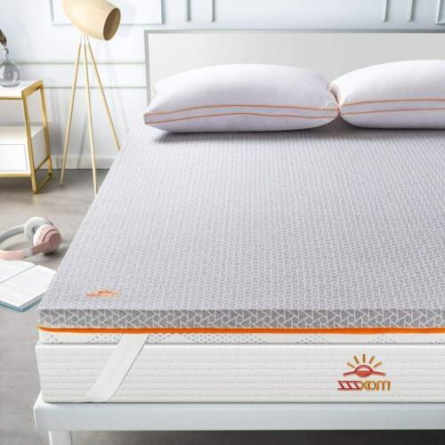 memory foam topper mattress 2inch queen size
