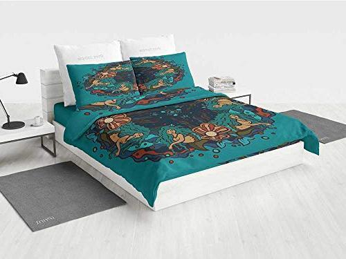 mermaid girl bedding sets marine