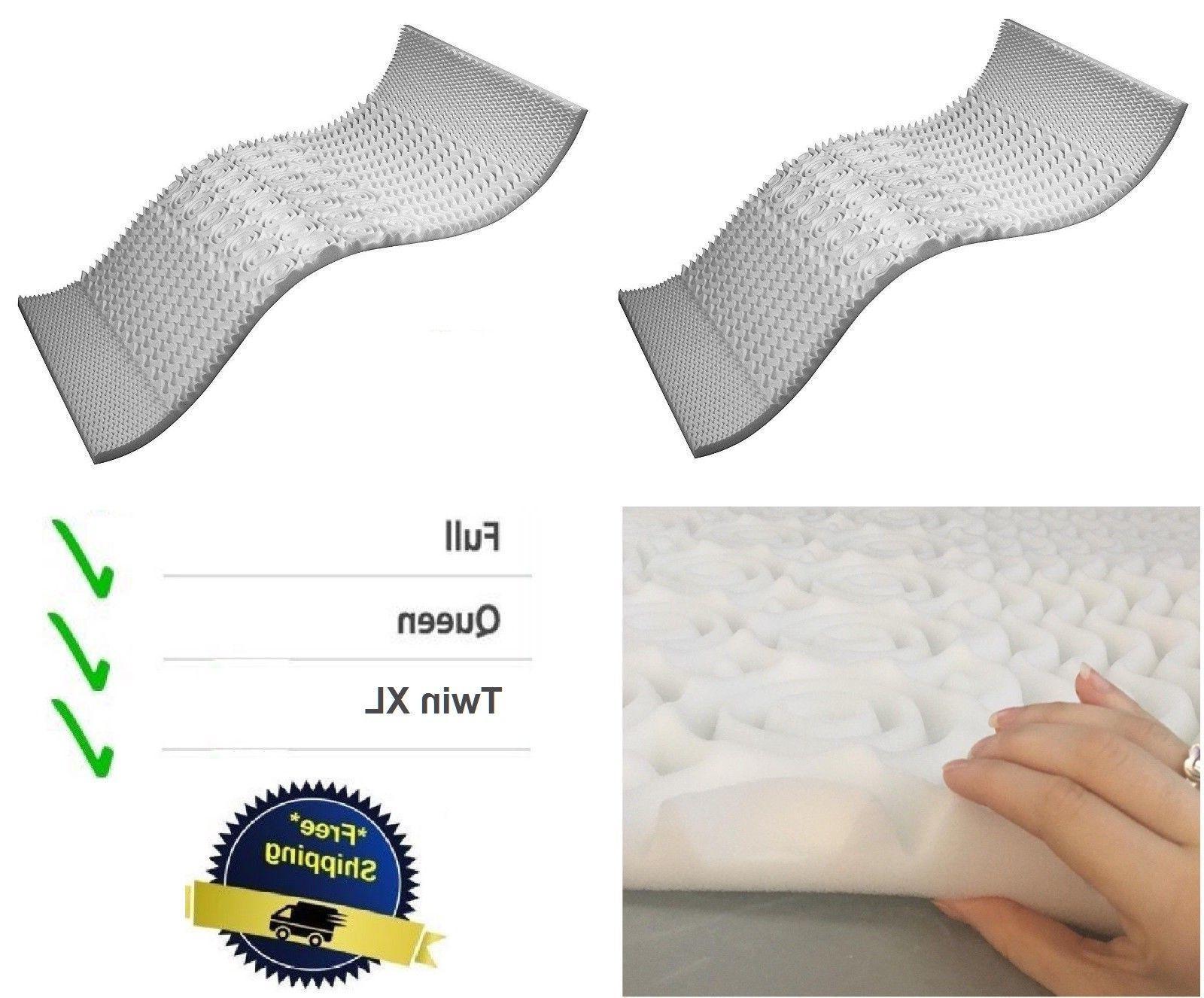NEW Memory Foam Mattress Topper Queen Size Cooling Gel Ortho
