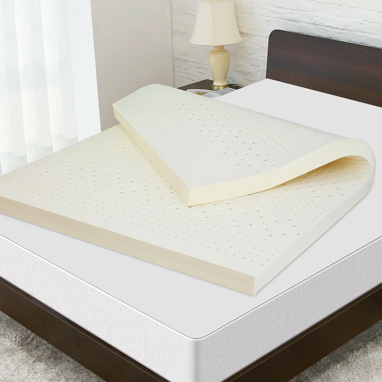 3 natural latex mattress topper dunlop pure
