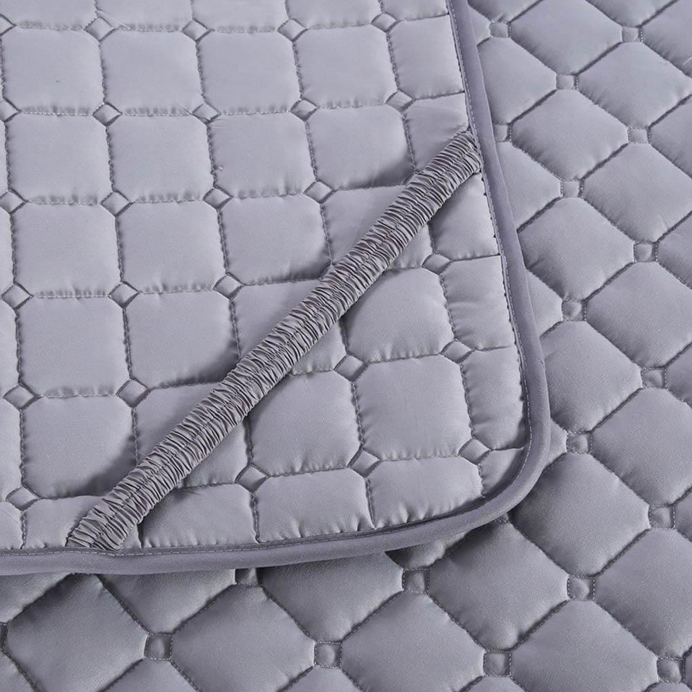 Nordic Solid quilting <font><b>mattress</b></font> <font><b>cover</b></font> Polyester twin single king Bed <font><b>Topper</b></font> protection