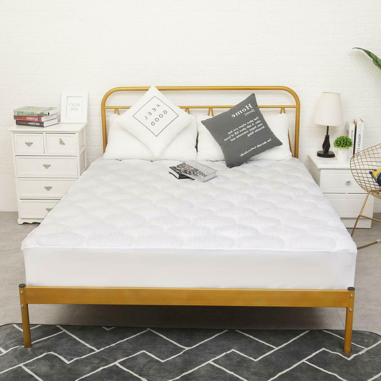 Organic Mattress Pad 300TC Cotton Top Topper Bed