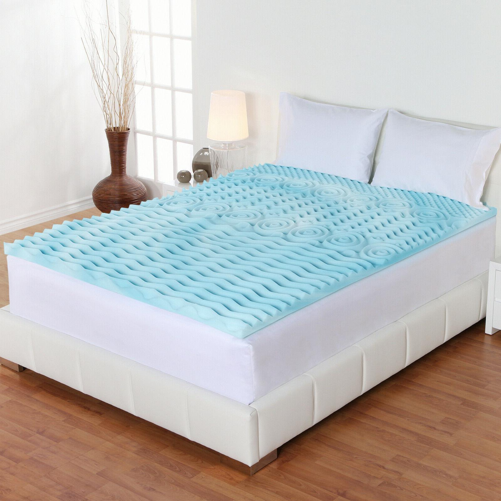Cooling Mattress Topper Memory Foam Orthopedic Hypoallergeni