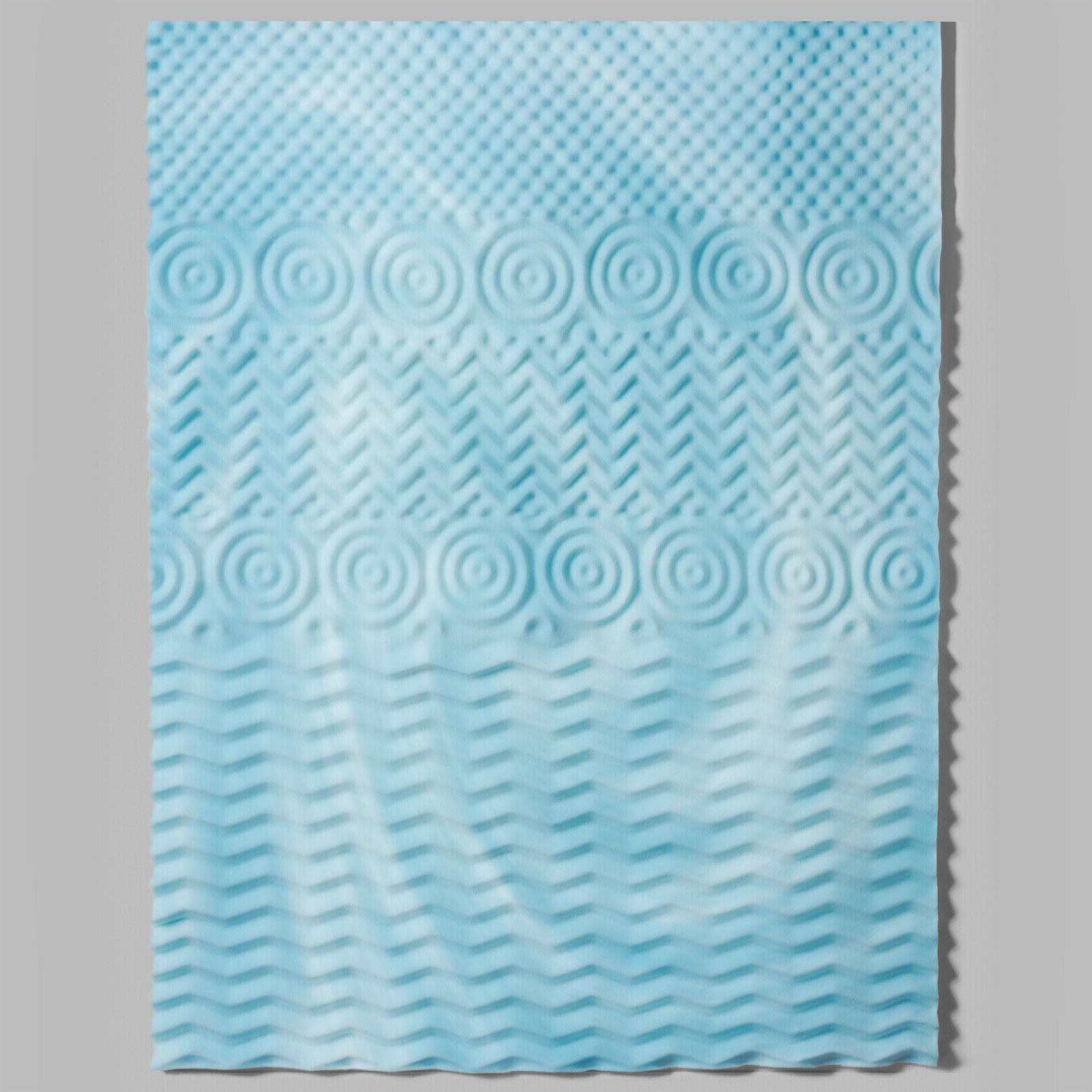 Mattress Topper Hypoallergenic Gel Memory Foam 2 Inch Orthop