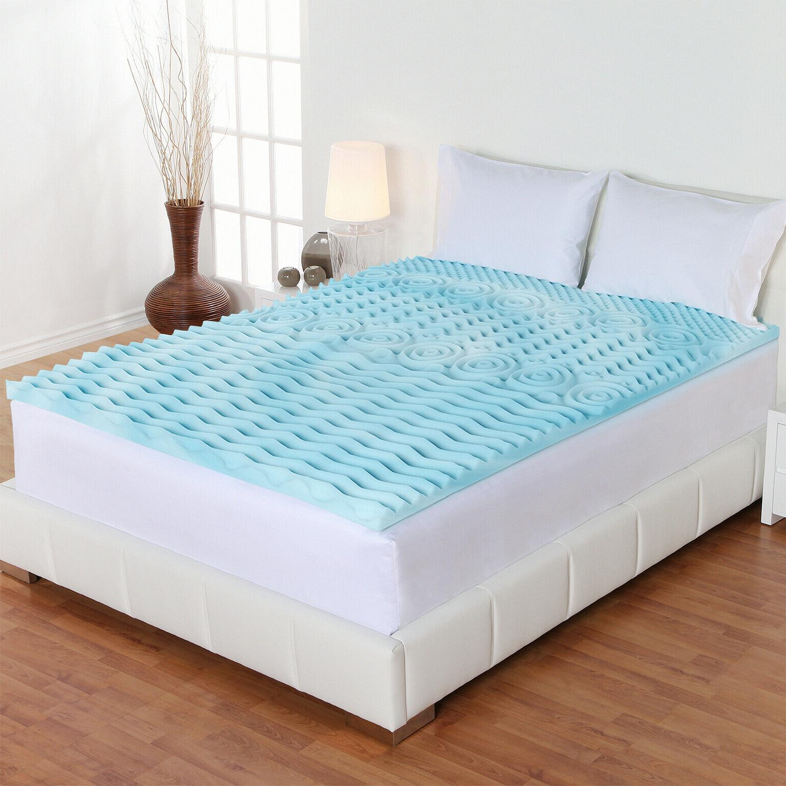 "Orthopedic Mattress Twin Size 2"" Foam Pad Bed Cover"