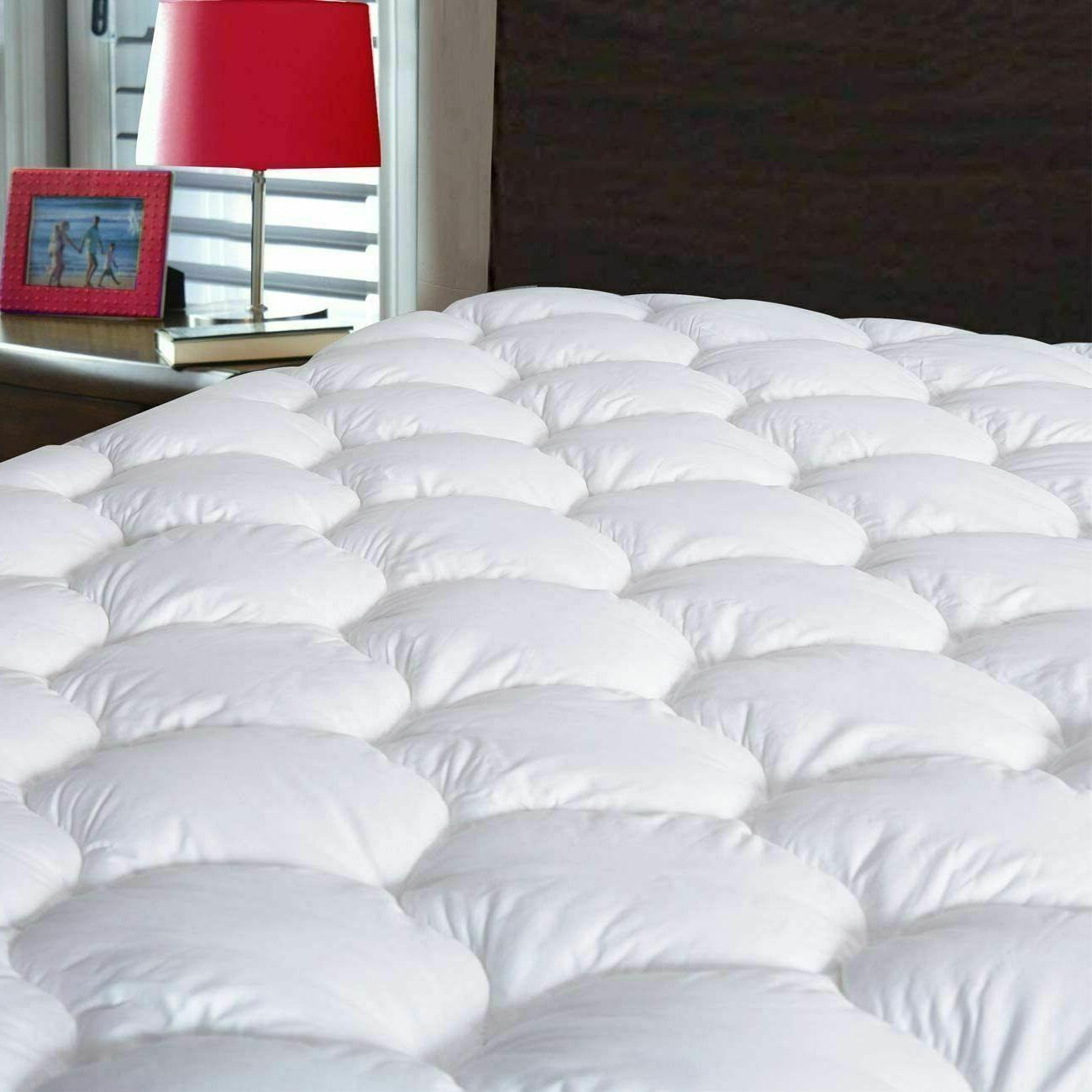 Pillow Top Mattress Topper Queen Size Bed C