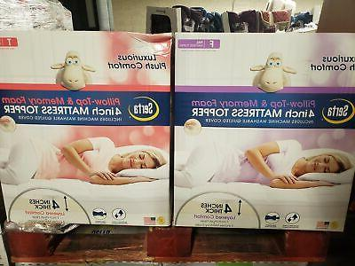 pillow top memory foam mattress topper 4