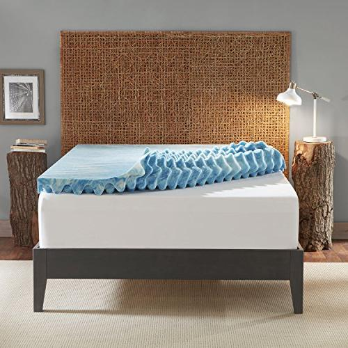 Sleep Support Gel Memory Mattress Topper with Air Channels and Made in The a Queen