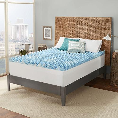 Sleep 4-inch Support Gel Memory Mattress Topper with Channels in USA with a - Queen