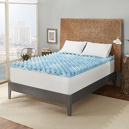 Sleep 4-inch Support Mattress Topper Channels and in a 10-Year Queen