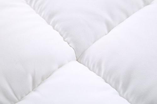 Utopia Bedding Polyester Mattress Topper – Cover 15 Inches – Mattress Protector Fiber